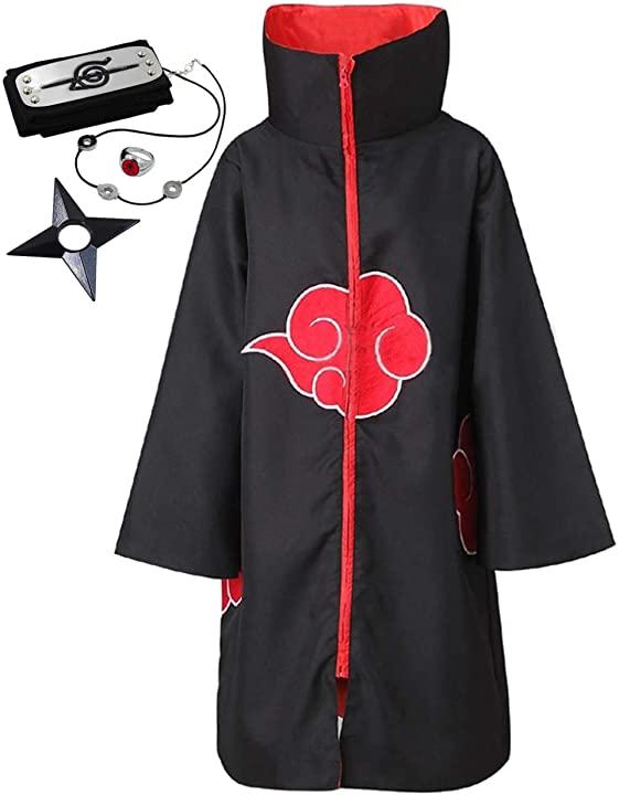 Naruto Unisex Black Hoodie and Headband