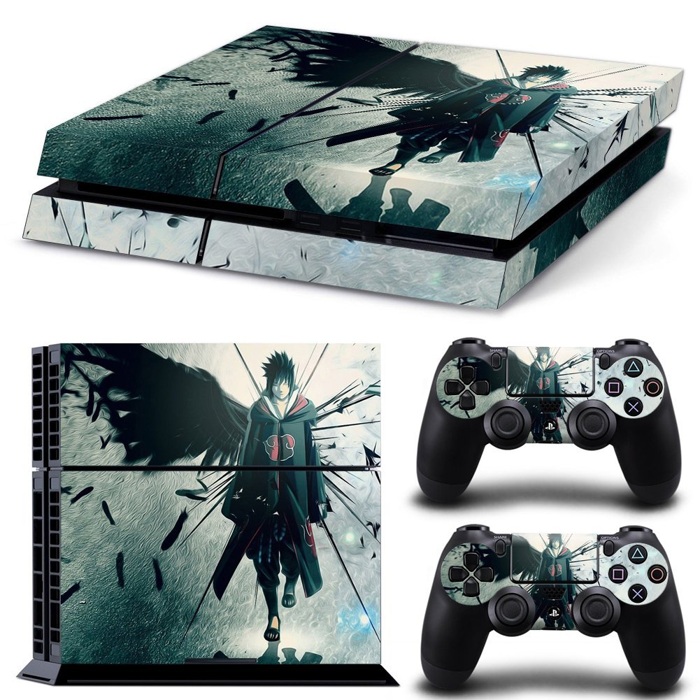 Ps4 Console Protective Vinyl Skin & 4 Wireless Controller Stickers