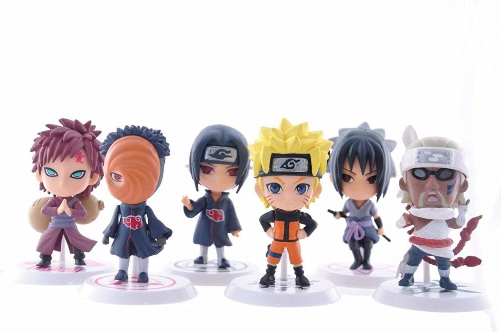 Set of 6 Naruto-Anime Figurines