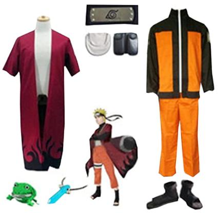 Uzumaki Naruto Full Set for Cosplay